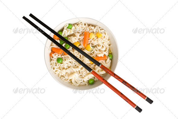 asian noodle soup - Stock Photo - Images