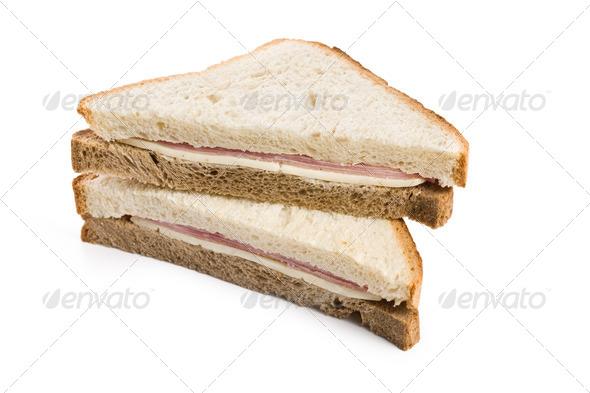 ham sandwich - Stock Photo - Images
