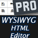 WYSIWYG HTML Editor PRO - PHP based Editor with Image Uploader and more - CodeCanyon Item for Sale