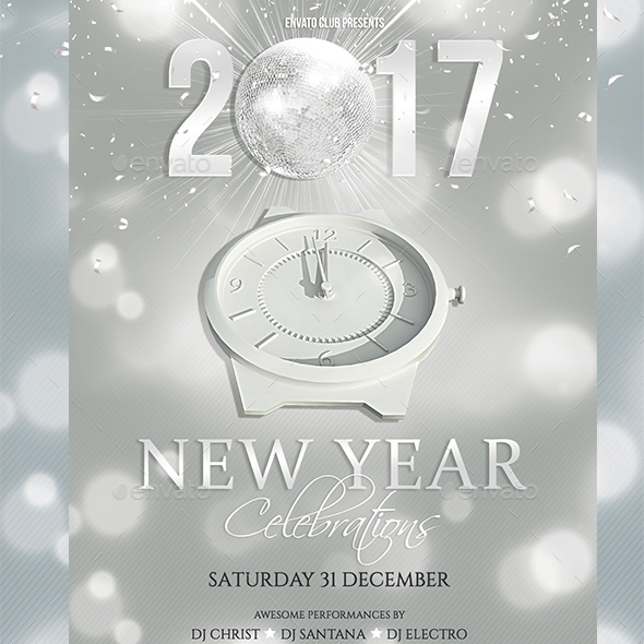 New Year Flyer by creativevalues | GraphicRiver