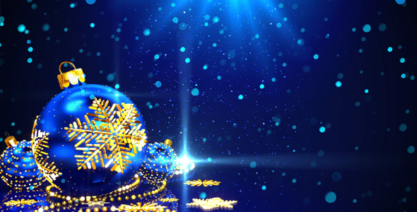 blue christmas background by as 100 videohive