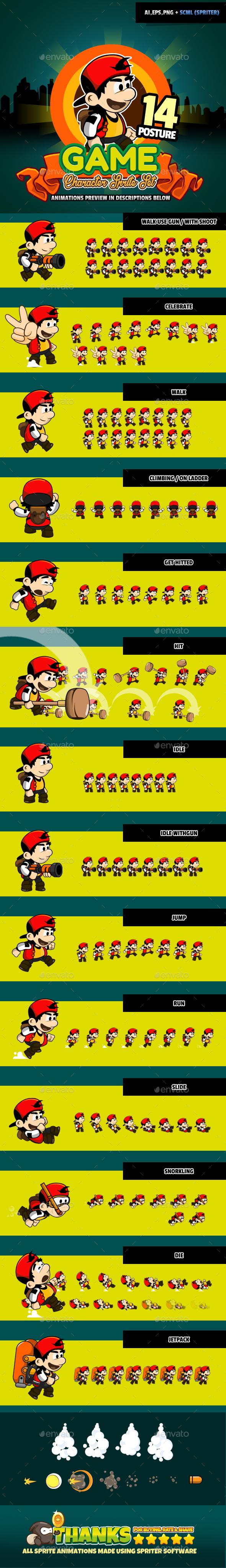 Character Set V08 - Sprites Game Assets