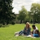 Interracial Group of Students Studying Outdoors. - VideoHive Item for Sale