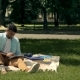 Afro American Student Studying Outdoors - VideoHive Item for Sale