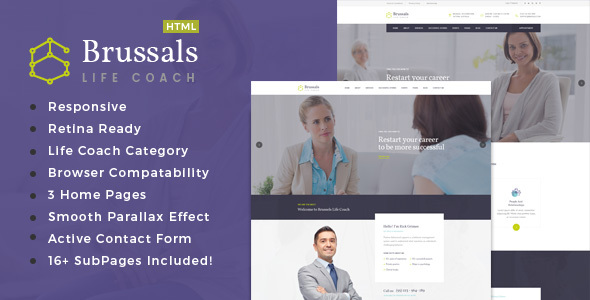 Brussals – Personal Development Coach HTML Template