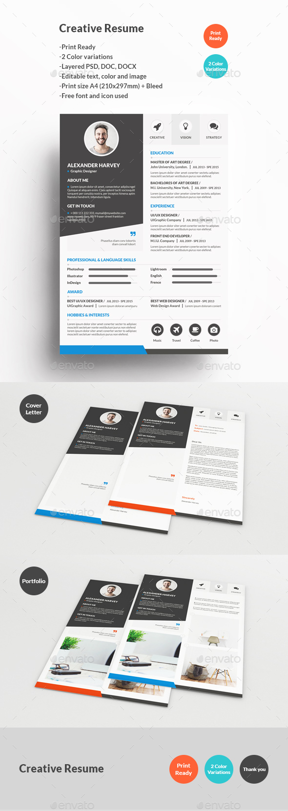 Creative Resume by KhidD | GraphicRiver