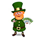 3D Illustration of Saint Patrick with Euro Veer Nulled