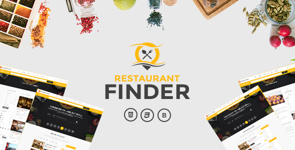 Restaurant Finder Takeaway or Delivery Food Template