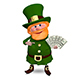 3D Illustration Saint Patrick with a Fan Dollars Nulled