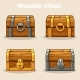 Closed Wooden Treasure Chest - GraphicRiver Item for Sale