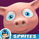 Piggy 4 Directional 3D Rendered Spritesheets 07 - GraphicRiver Item for Sale