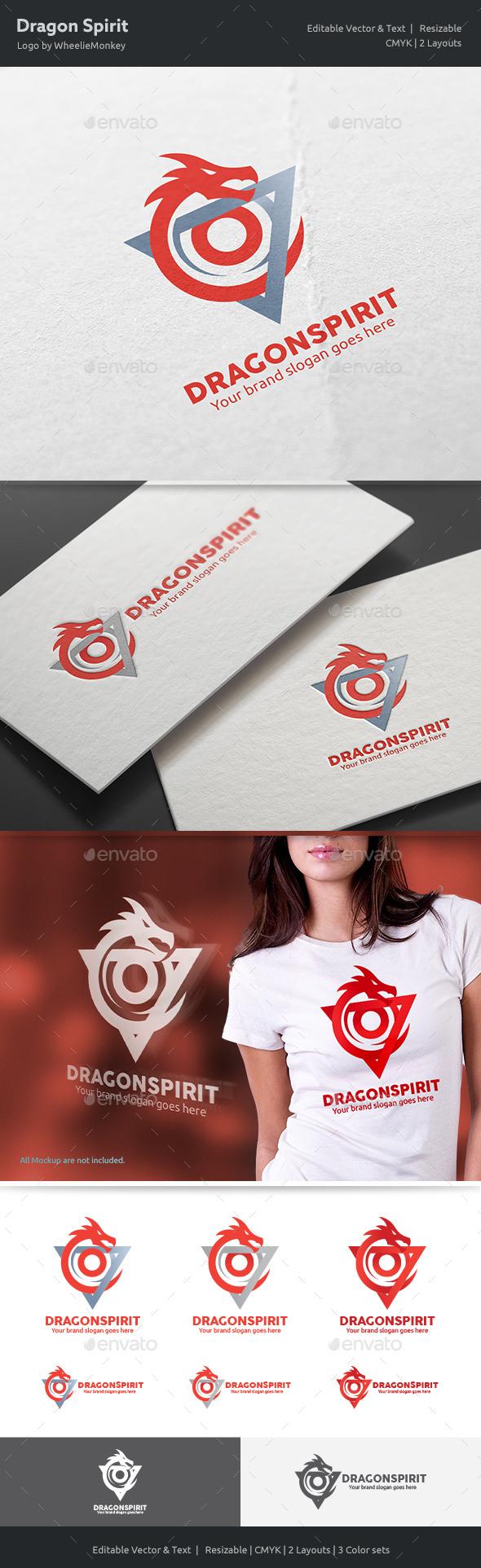 Dragon Spirit Logo - Vector Abstract