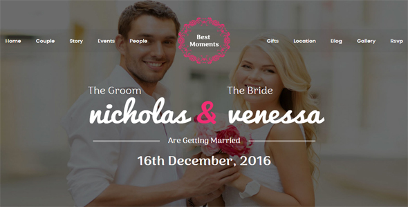 Best Moments – Modern Wedding WordPress Theme