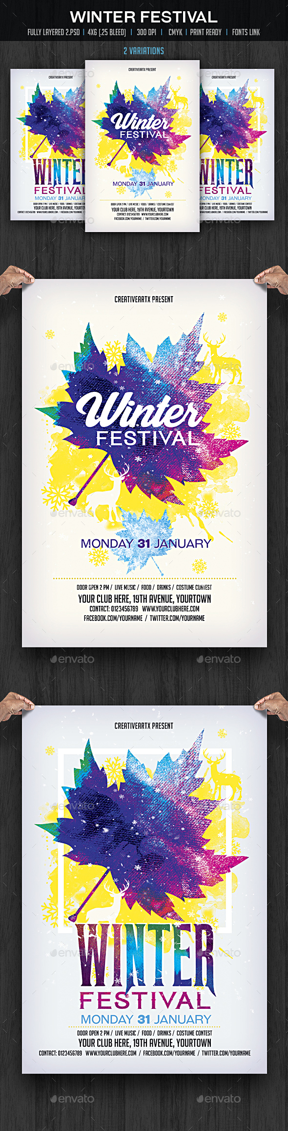 Winter Festival Flyer - Events Flyers