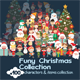 Funny &cute Christmas Collection - GraphicRiver Item for Sale