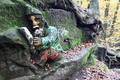 Gnome reading a book - rock relief - PhotoDune Item for Sale