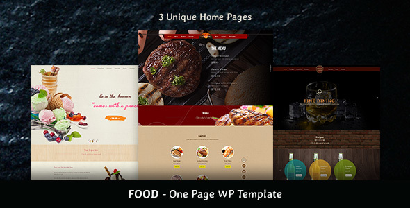 Food – Restaurant & Bakery One Page Theme