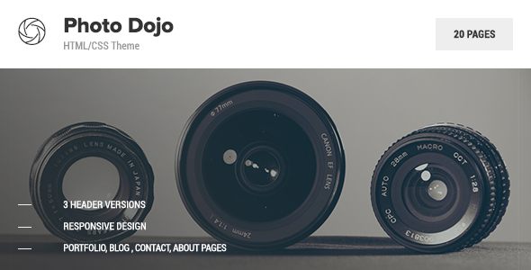 Photo Dojo – Photography Site Template