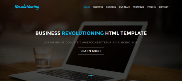 Business Revolutioning one page HTML Template - Site Templates