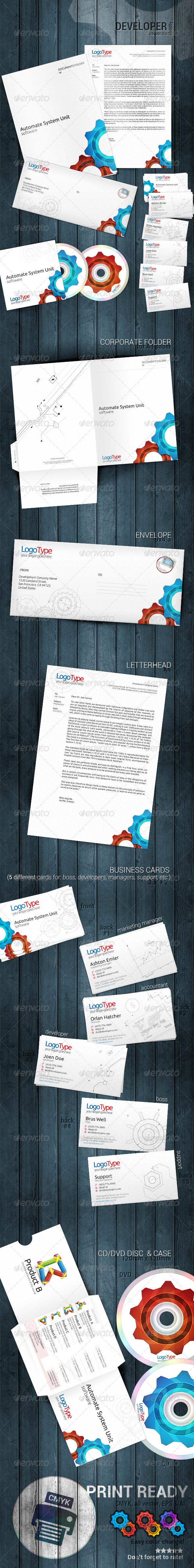 Developer Corporate Identity - Stationery Print Templates