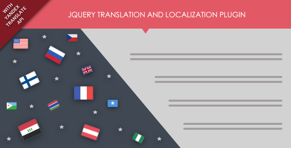 jQuery Translation and Localization Plugin with Yandex Translate API - CodeCanyon Item for Sale