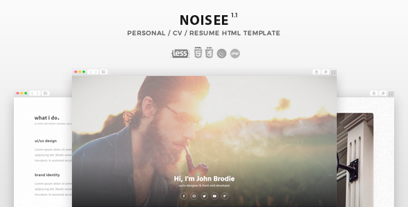 Noisee - Personal / CV / Resume HTML Template