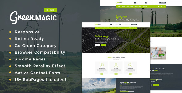 Green Magic – Environment / Non-Profit HTML Template