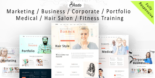 Shada – Responsive  one page and multipurpose HTML template