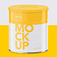 Milk Powder Can - High Angle Mockup - GraphicRiver Item for Sale