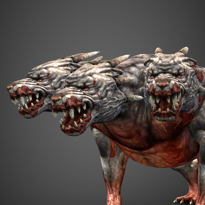 Fantasy Animal Hell Dog By Gamingarts 3docean
