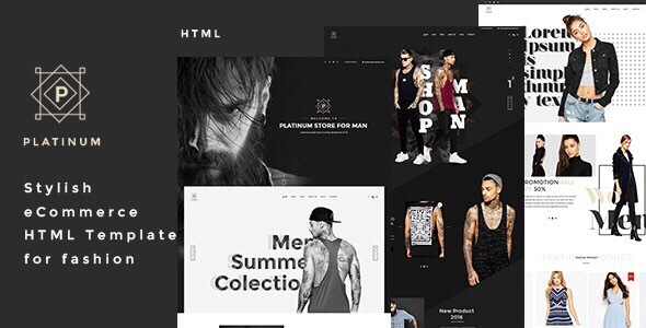 Platinum – Stylish eCommerce HTML Template for Fashion