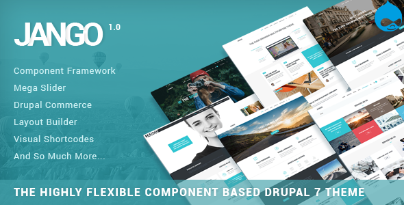 Jango | Highly Flexible Component Based Drupal Theme