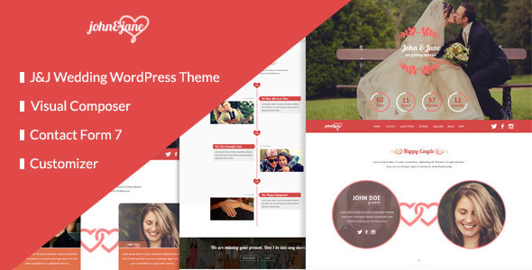 J&J – Responsive WordPress Wedding Theme