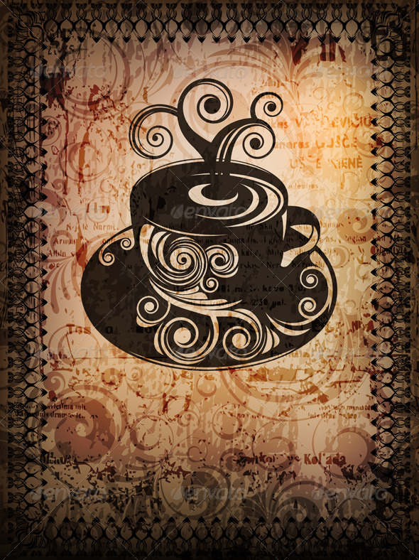 Coffe cup background - Food Objects