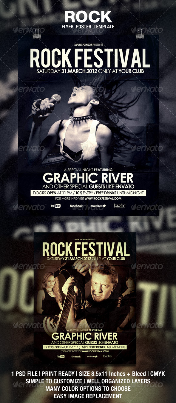 Rock Flyer Poster - Events Flyers