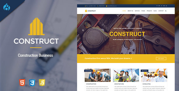 Construct - Drupal 8 Construction & Business Theme - Business Corporate
