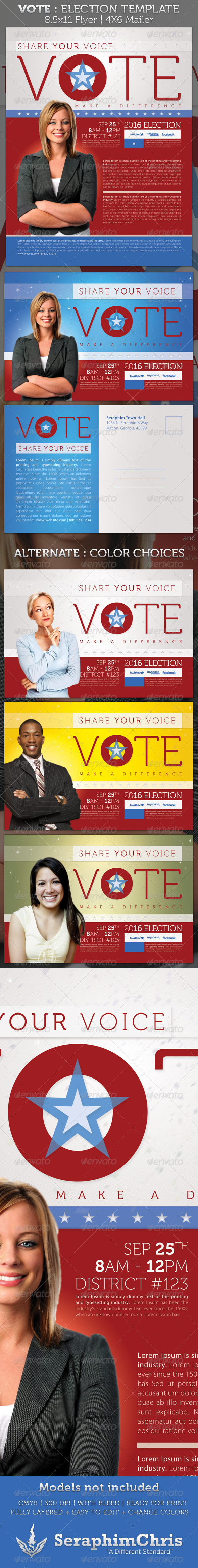 election flyer templates graphics designs templates