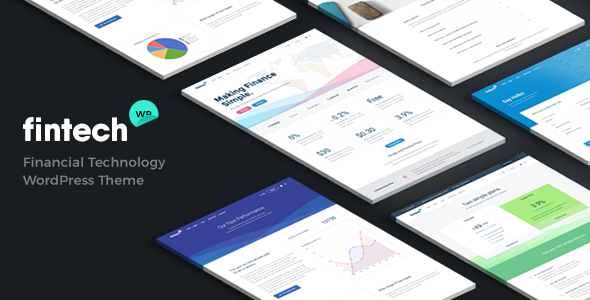 Fintech WP – Financial Technology and Services WordPress Theme