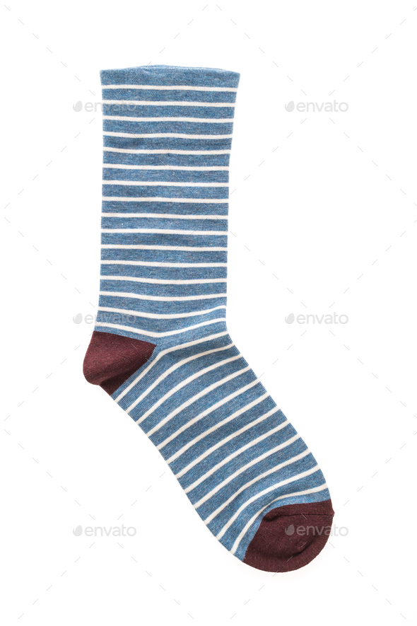 Pair of sock isolated - Stock Photo - Images