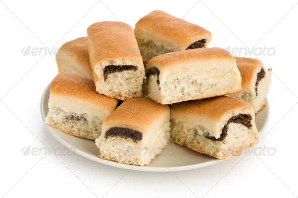 buns with poppy - Stock Photo - Images