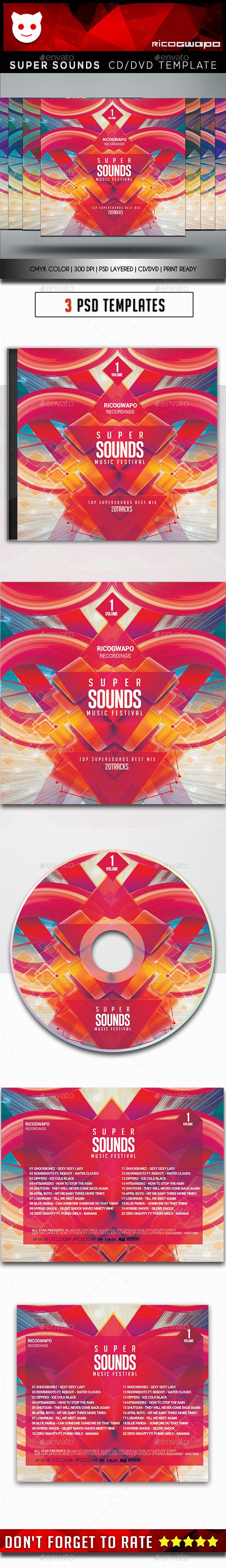 Super Sounds Cd/DVD Template - CD & DVD Artwork Print Templates