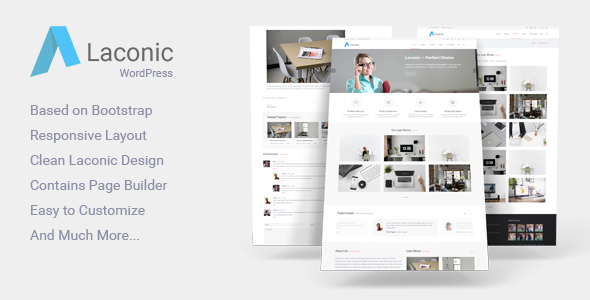 Laconic – Modern Business/Corporate WordPress Theme