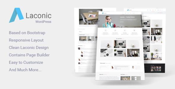 Laconic - Modern Business/Corporate WordPress Theme - Corporate WordPress