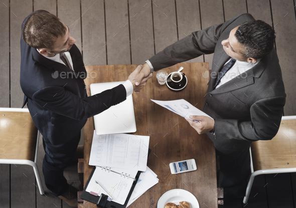 Corporate Business Men Handshake Meeting Concept - Stock Photo - Images