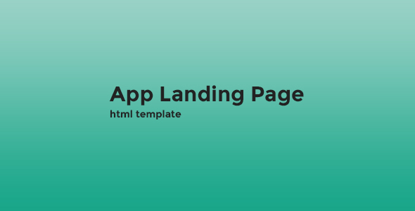 App - Landing Page HTML Template - Landing Pages Marketing