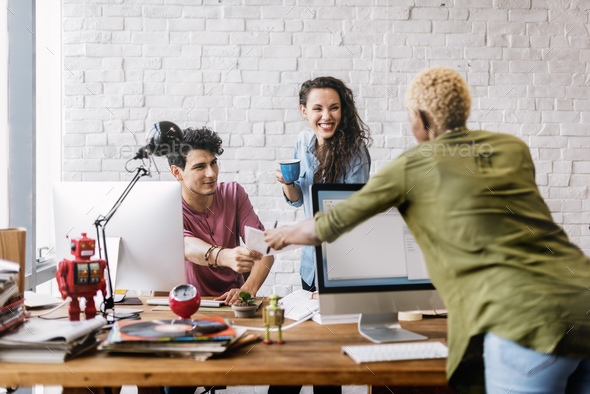 Business Team Brainstorming Workspace Concept - Stock Photo - Images