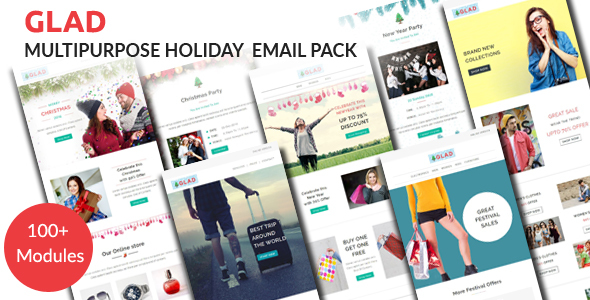 GLAD – Multipurpose Holiday Email Pack with Stampready Builder Access