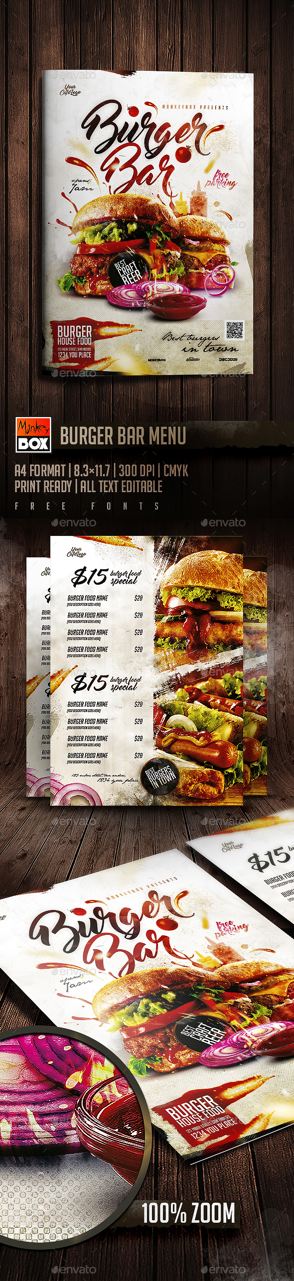 Burger Bar Menu
