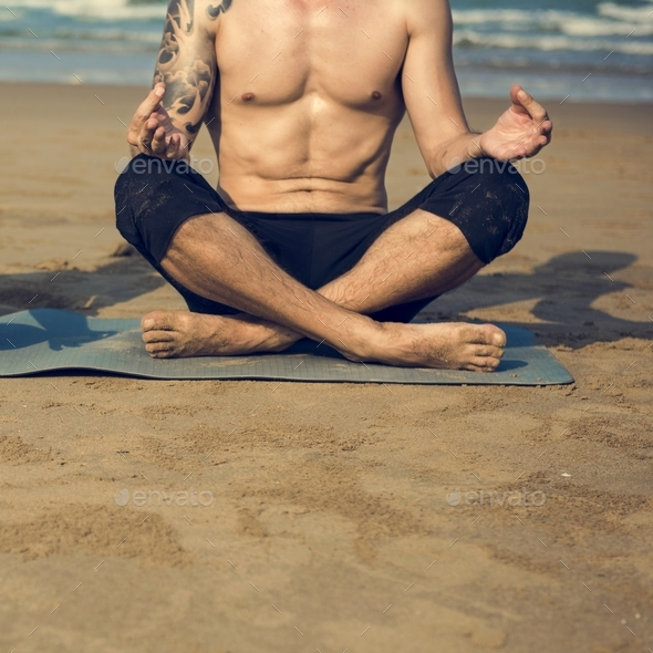Yoga Meditation Concentration Peaceful Serene Relaxation Concept - Stock Photo - Images