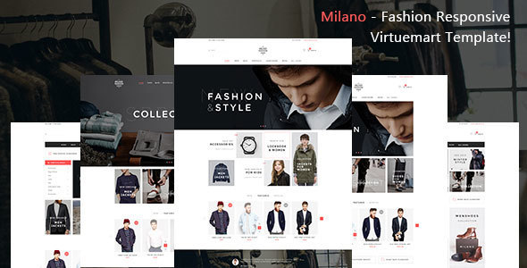 Image of Milano - Fashion Responsive Virtuemart Template